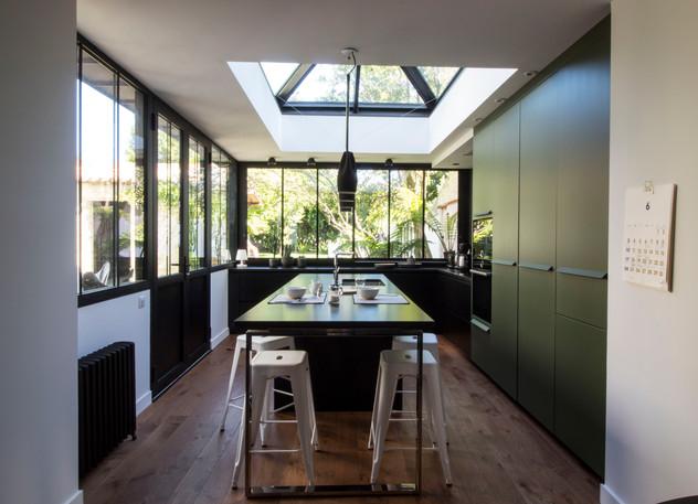 Création cuisine | noire et verte
