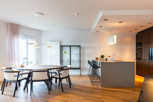 Salle à manger et cuisineDécoration d'un appartement pour la vente