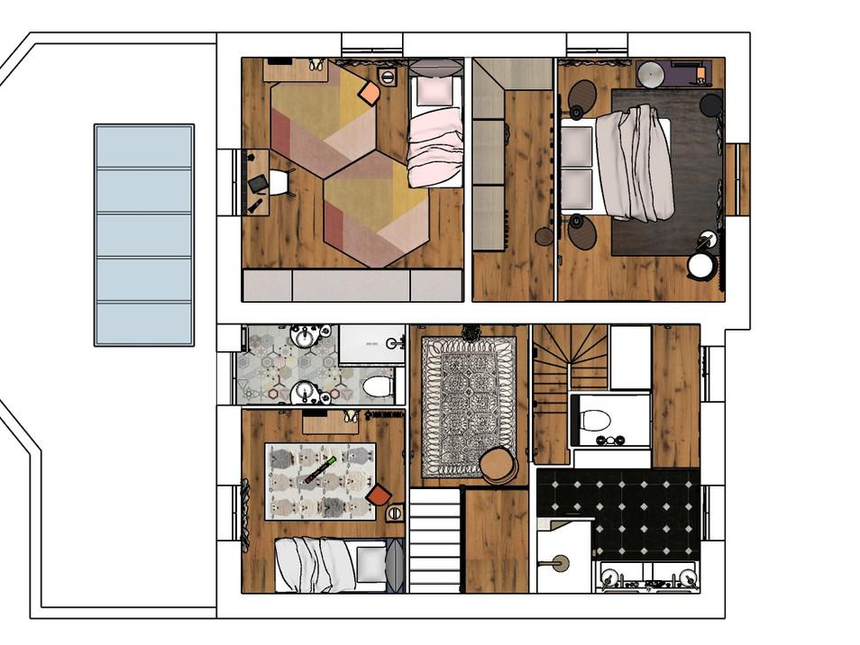 Projet - Plan de l'étage 1