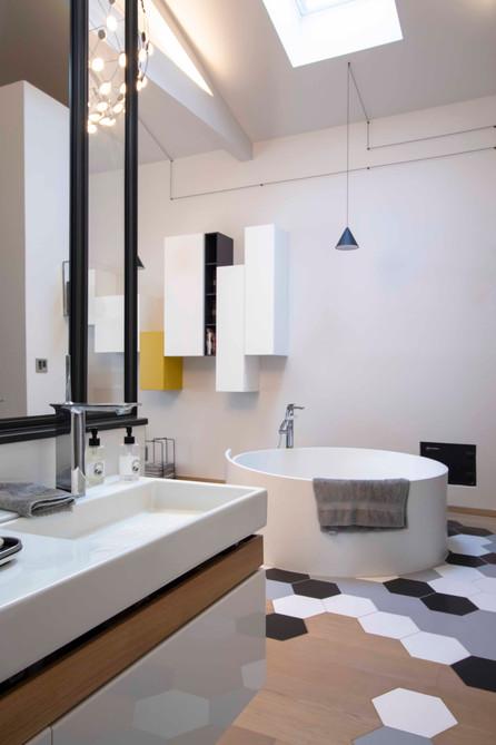 Salle de bain   dans une suite parentale