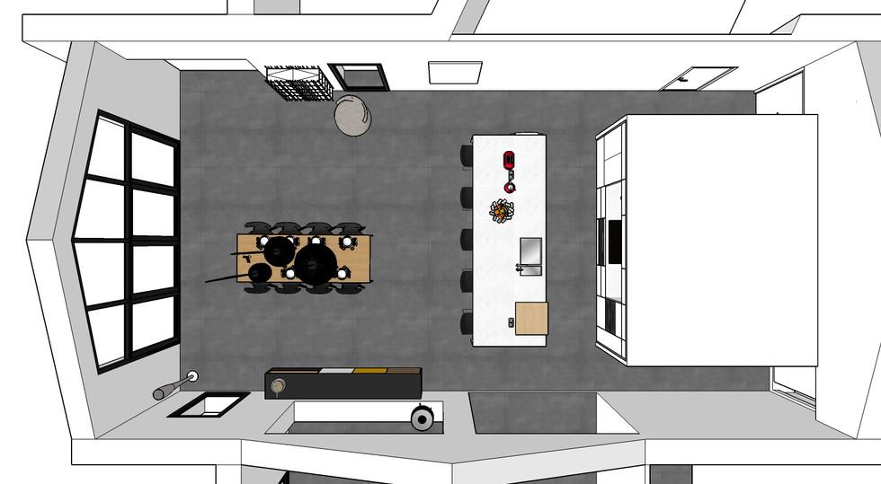 Plan du projet de la cuisine