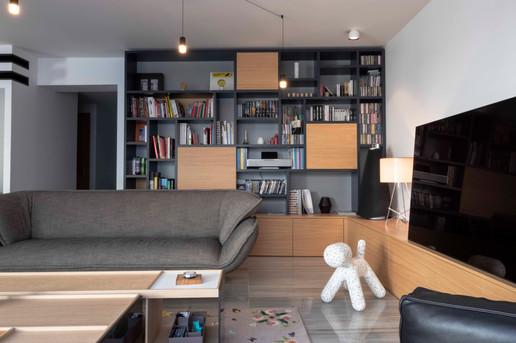 Décoration intérieure et création d'un espace cuisine pour cette maison de ville