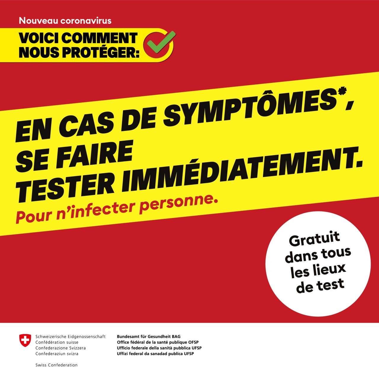 Tests rapides/PCR COVID19: INFORMATIONS