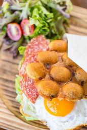 Chinese Sausage Hong Kong Egg Waffle Breakfast Sandwich, Hong Kong Street Eats, hongkongstreeteats, 香港街食, hk street eats
