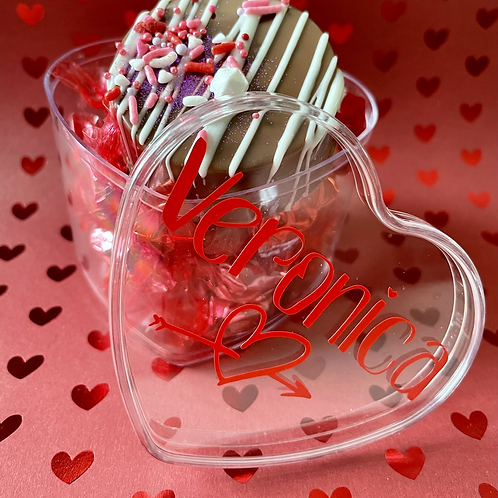 Personalized Heart Candy Box