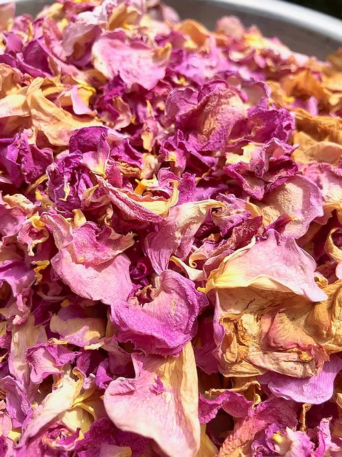 1 lb Bundle of Dried Rose Petals