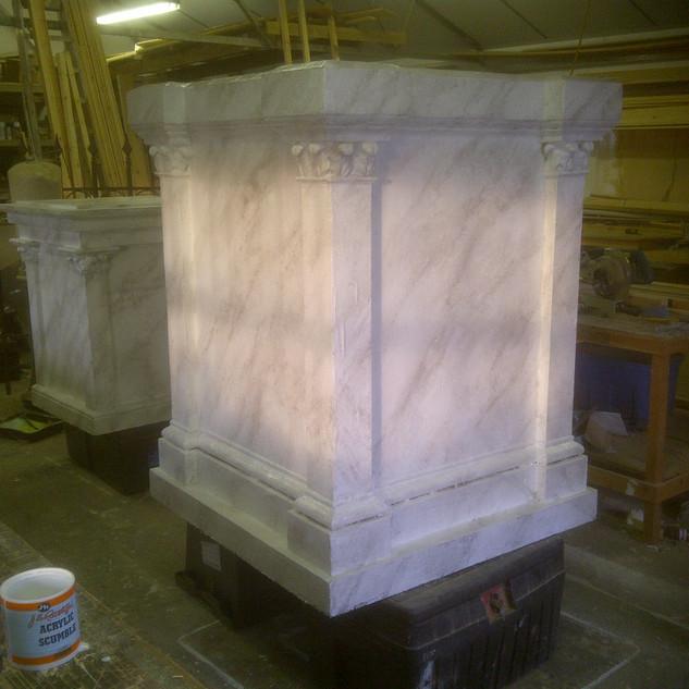 Marble Effect Plinth