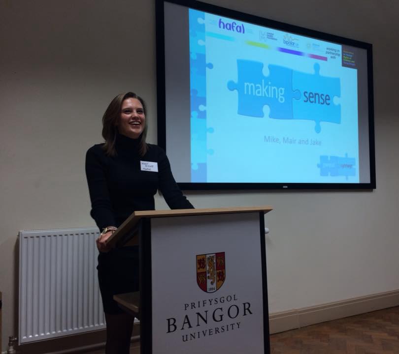 Presenting Making Sense at Bangor Uni