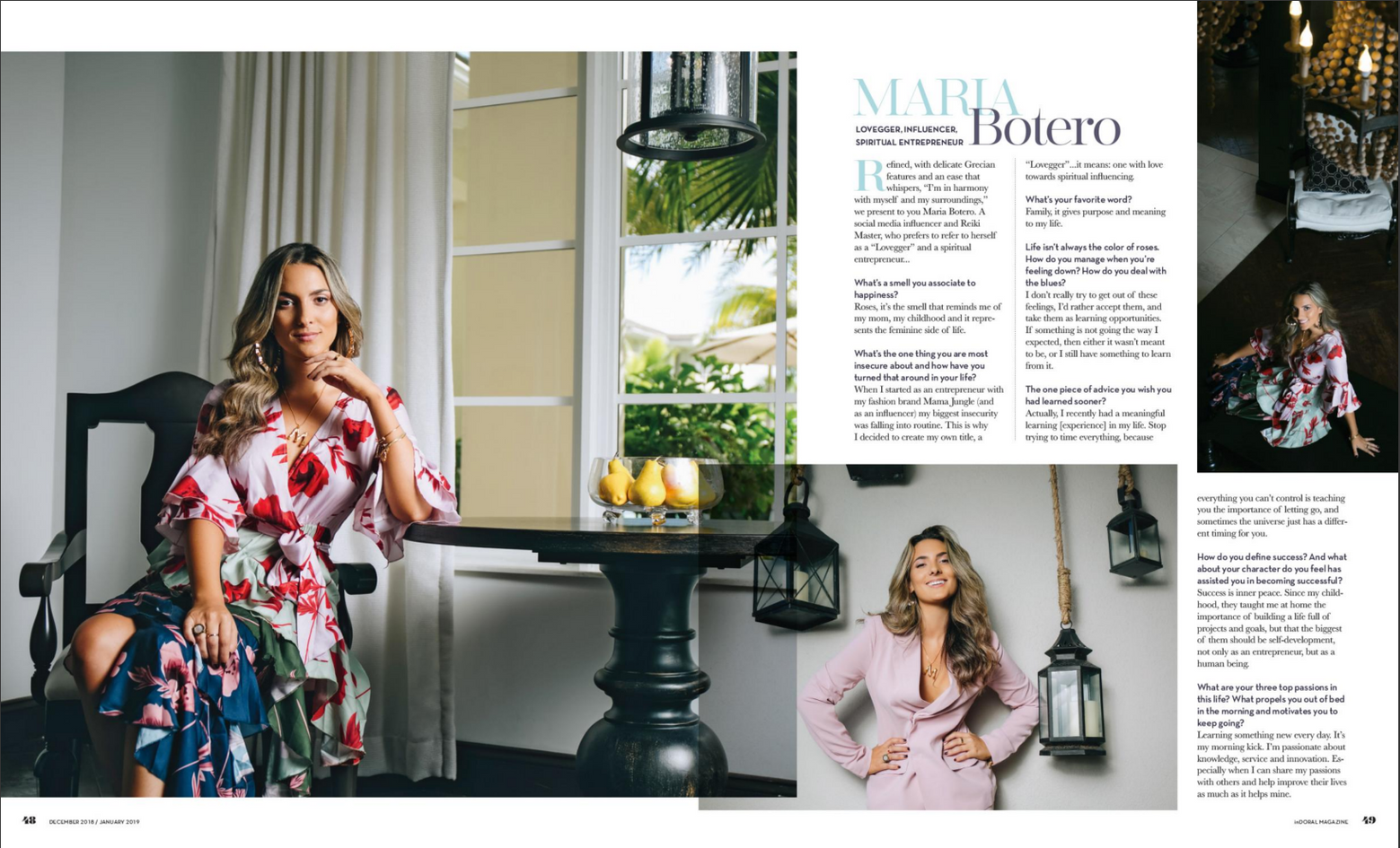 inDoral Magazine, Dec/Jan 2018 Girl Boss Issue, Maria Botero