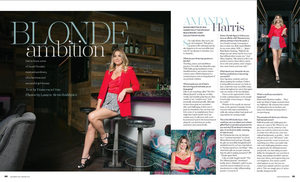 inWeston Magazine, Dec/Jan 2018 Girl Boss Issue, Amanda Harris