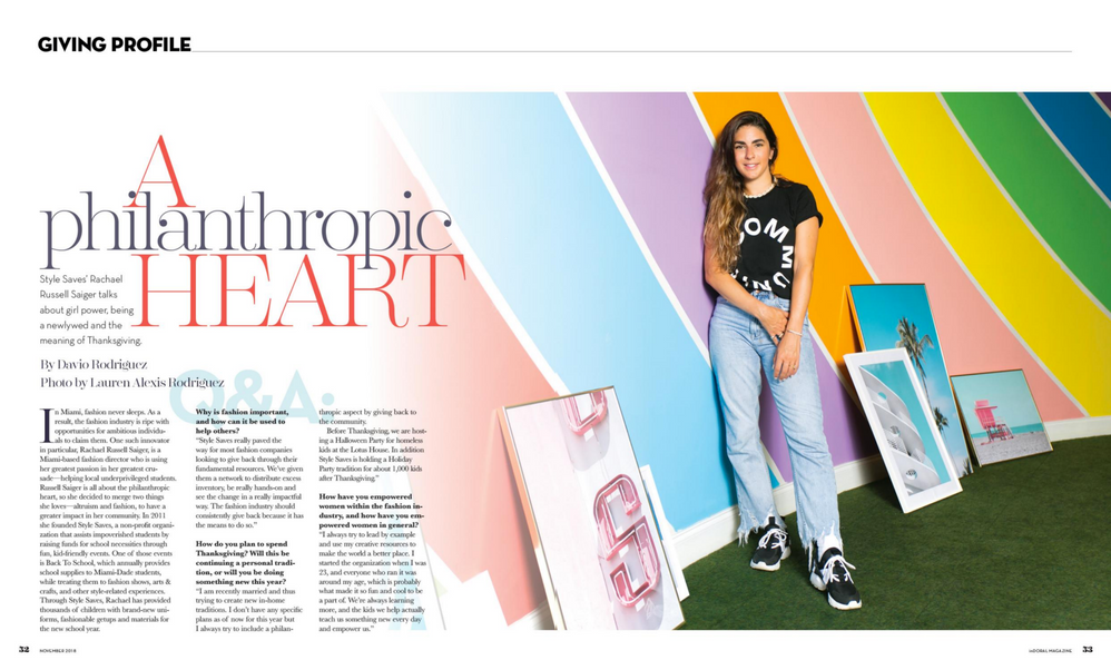 inDoral Magazine, November 2018 Issue, Rachael Russell Saiger