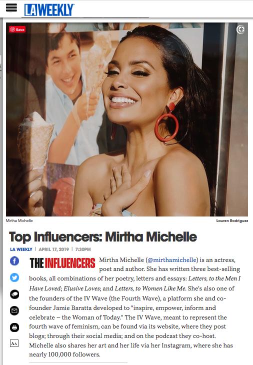 Mirtha Michelle, April 2019, LA Weekly