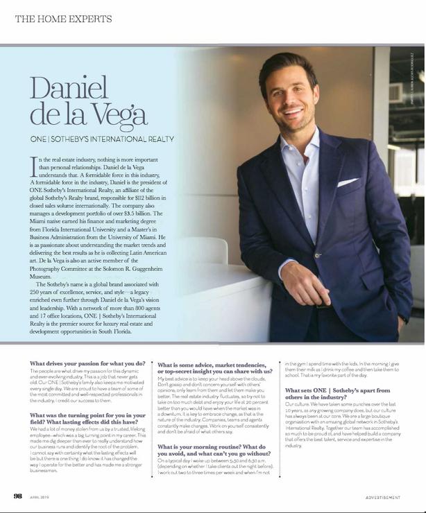 inWeston Magazine, April 2019 Issue, Daniel de la Vega