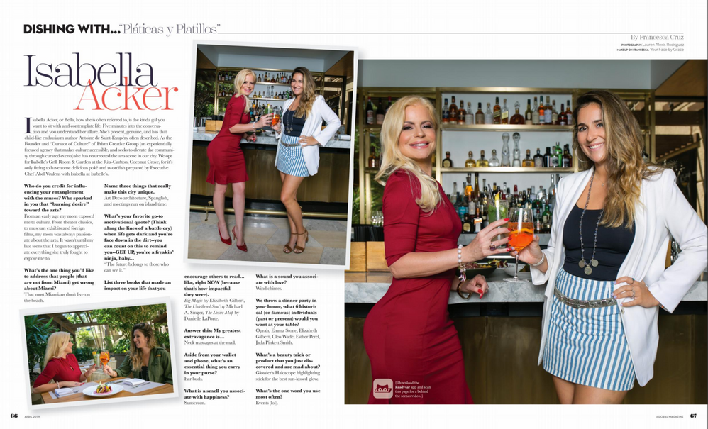 """inDoral Magazine, April 2019 Issue, """"Dishing With"""""""