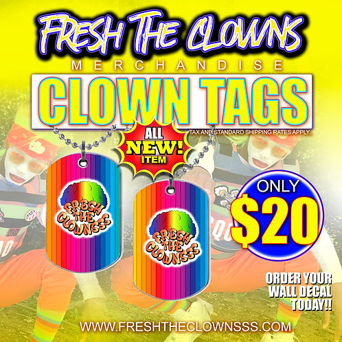 CLOWN TAGS NECKLACE