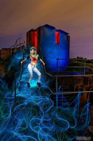 Light Painting Night Photography by MickyLightPainter Model in Sydney