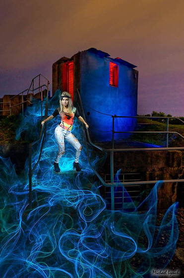 Light Painting Night Photography by MickyLightPainter Model in Sydney