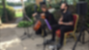 The HoneyVoom Duo playing cello and guitarwedding music live
