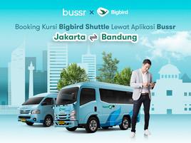 Jakarta ke Bandung atau Bandung ke Jakarta dengan Big Bird Shuttle Bus