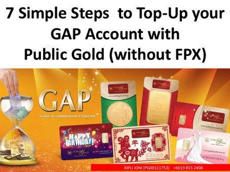 7 Simple Steps to Top Up your GAP (without FPX)