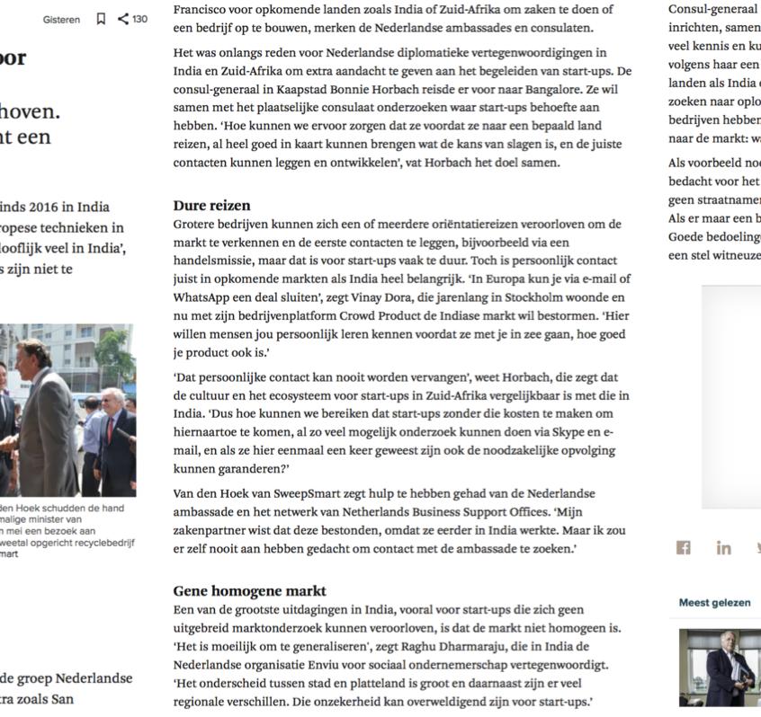 FD_Nederlandse start-ups kiezen vaker voor hotspots in India en Zuid-Afrika _ Het Financieele Dagblad