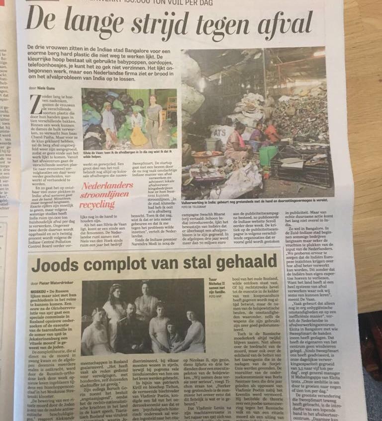 Telegraaf_Lange strijd tegen afval Dec2017_paper