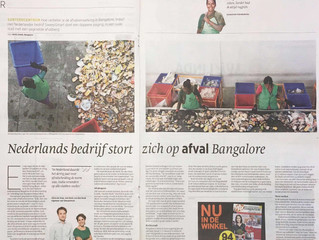 """SweepSmart featured in Dutch newspapers """"Trouw, """"De Telegraaf"""" and """"Het Financie"""