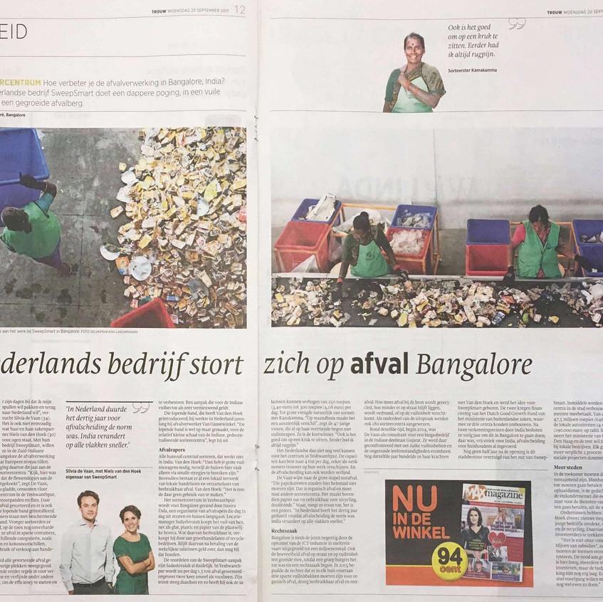 Trouw - Nederlands bedrijf stort zich op afval in Bangalore_cropped