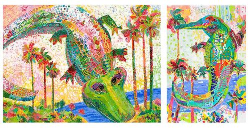 Ali & Joe Gator - Notecards