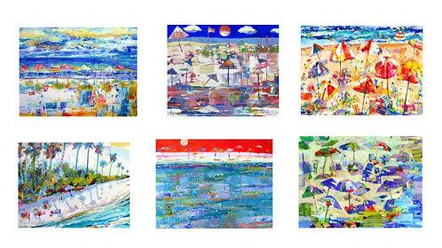 Beach Brellies Series - Notecards