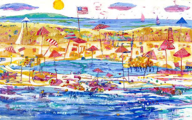 Beach Brellies - Out at Sea