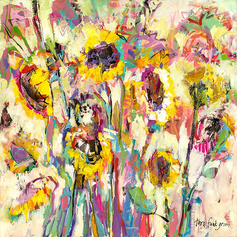 63  Sunflowers Dance with Joy 20 x 20.jp