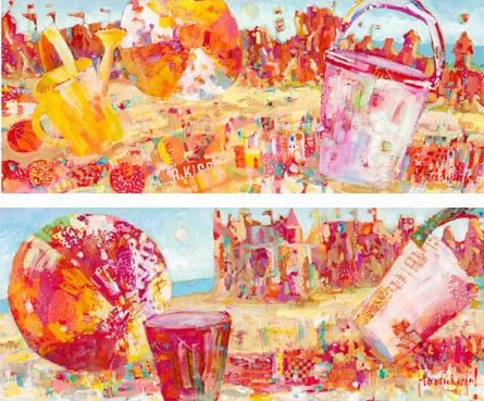 By the Sea (diptych)