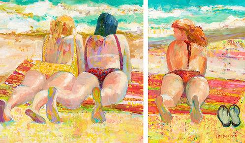 Beach Bums (diptych)