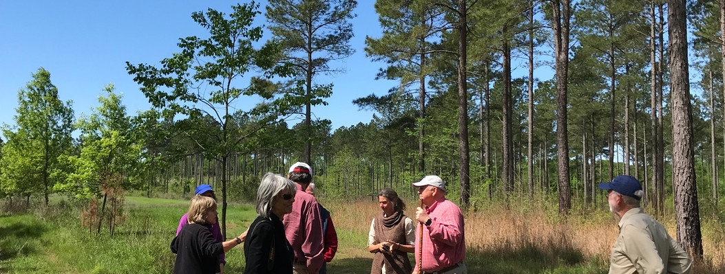 Members hike on an ORLT -protected property.
