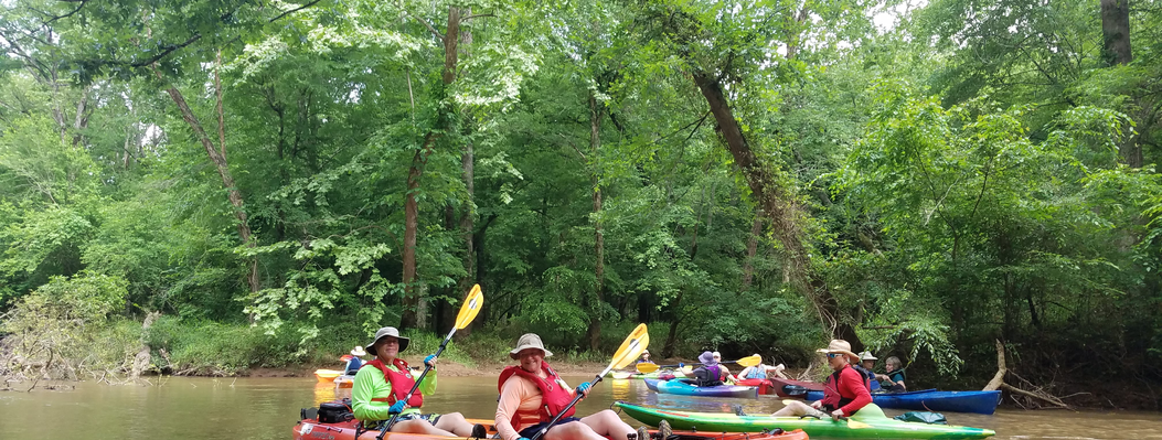 We regularly host events for ORLT members, including hikes, bird walks, and even paddle trips, like this outing at a protected property along the Apalachee River.