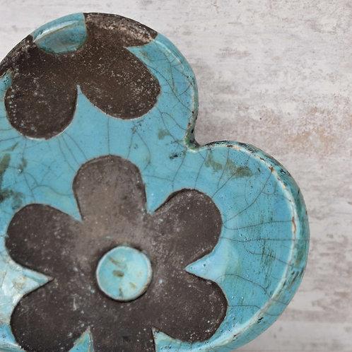 Ceramic Heart - Raku fired