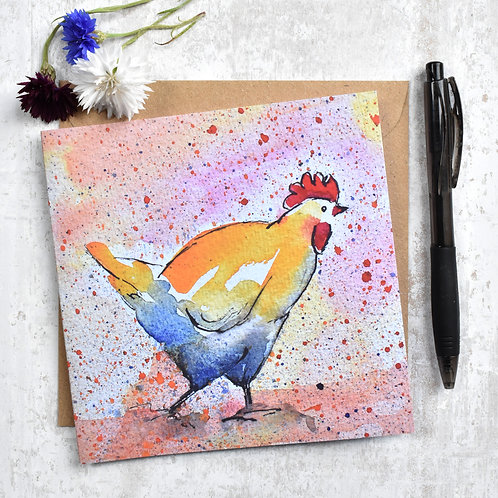 Greeting Card Charlie Chicken
