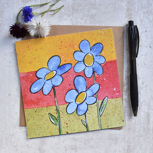 Greeting Card Blue flowers