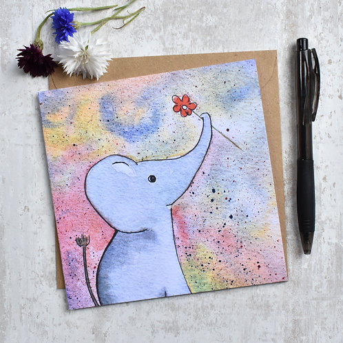 Greeting Card Elly the Elephant