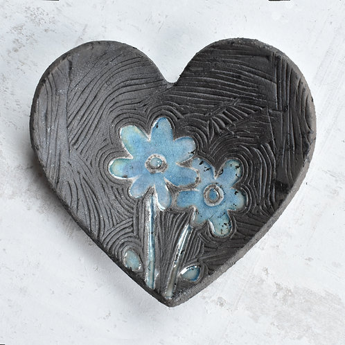 Ceramic Heart with flowers