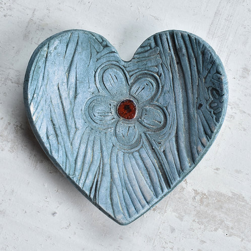 Ceramic Heart with flower