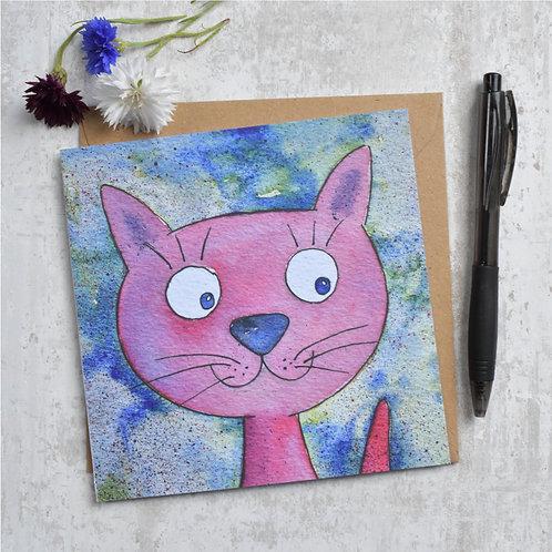Greeting Card Purple Pixie