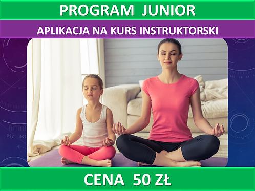 Program JUNIOR - aplikacja na kurs instruktorski