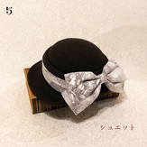 5シュエット:フッフールspecialセットコーデ企画作品(ベル セゾンのクラシックハット&トワルドジュイ/ショコラ)¥21,900