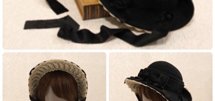 5:プーペ クラスィックのドレスハット(ノーブルブラック)