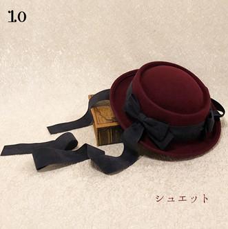 10シュエット:ヴィル ドゥ オトンヌのクラシックハット(アンティークボルドー) ¥20,800