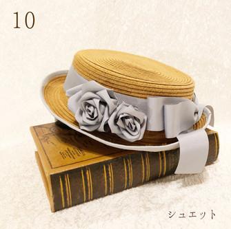 10.リュバン ドゥ ローズのクラシックハット