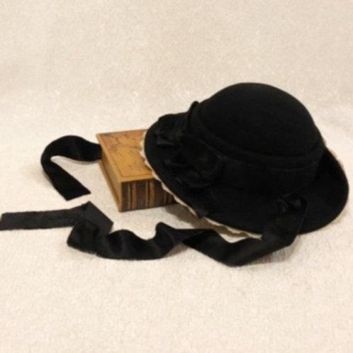 プーペ クラスィックのドレスハット(ノーブルブラック)