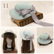 11.プティ ベル セゾンのクラシックハット(ペールグリーン&グレージュ)¥20,790